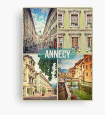 Annecy - Urban Montage 5 Canvas Print