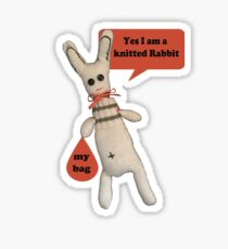 Yes I am a Knitted Rabbit Sticker