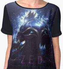 league of legends-championship zed Women's Chiffon Top