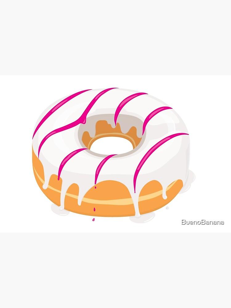 Creamy White Pink glazed Donut by BuenoBanana