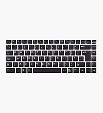 PC Computer Keyboard Buttons Design Photographic Print