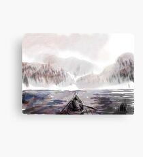 Boats on a lake Canvas Print