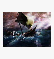 Odysseus at sea Photographic Print