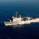 Das Docklandungsschiff der Whidbey Island-Klasse USS Rushmore. von StocktrekImages