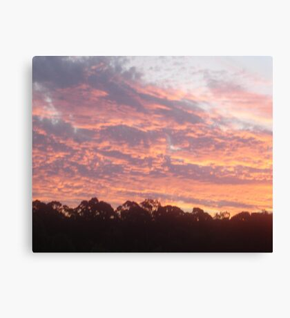 Softly Softly Sunset Canvas Print