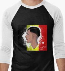 """Camiseta ¾ bicolor para hombre El rediseño belga de """"Racine Carrée"""" de Stromae"""