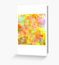 Spring Floral Abstract 41/  art + Product Design Greeting Card