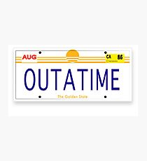 Back to the Future License Plate Photographic Print