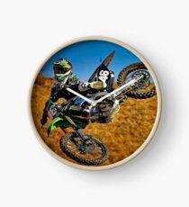 MOTOCROSS EXTREME: Motorcycle Racing Advertising Print Clock