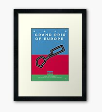 My F1 BAKU Race Track Minimal Poster Framed Print
