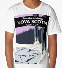 Nova Scotia, Canada holiday travel poster. Long T-Shirt