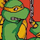 TMNT Mikey, Pixel Arcade Edition by horatiohayden