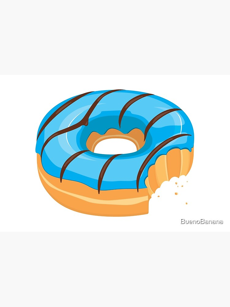 Blue Chocolate Glazed Donut with Bite by BuenoBanana