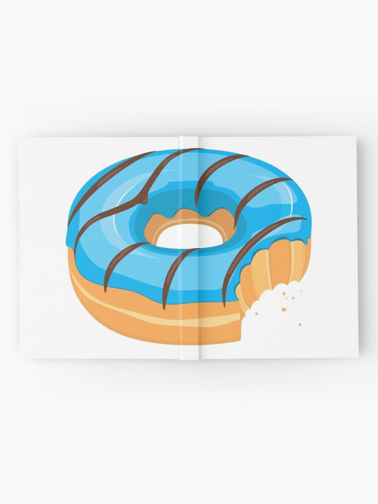 Alternate view of Blue Chocolate Glazed Donut with Bite Hardcover Journal