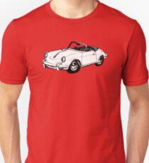 White Porsche 356 Speedster Illustration  Unisex T-Shirt