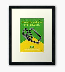 My F1 Interlagos Track Minimal Poster Framed Print