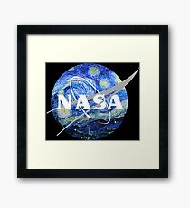 NASA Art Starry Night  Framed Print