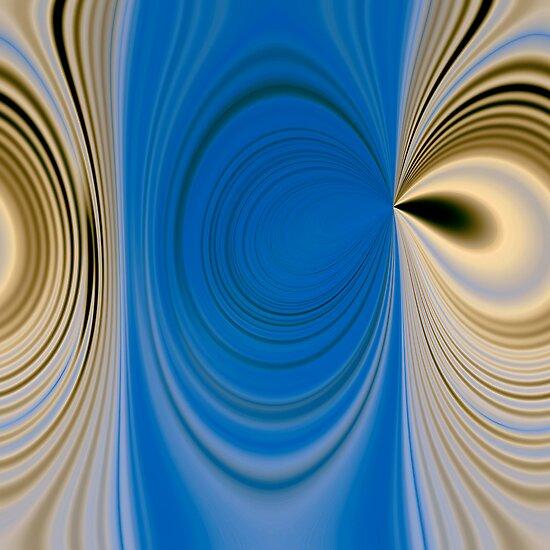 Blue waves pattern by Martine Affre Eisenlohr