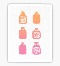 ROSE PERFUME BOTTLES - PEACH / PINK OMBRE Sticker