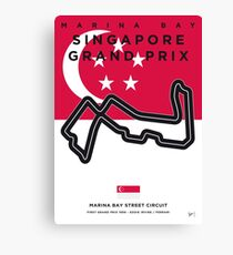 My F1 MARINA BAY Race Track Minimal Poster Canvas Print
