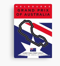 My F1 MELBOURNE Race Track Minimal Poster Canvas Print