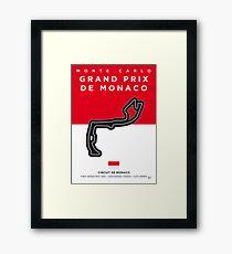 My F1 MONACO Race Track Minimal Poster Framed Print