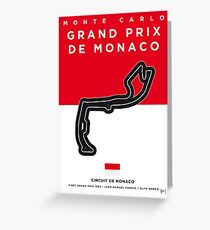 My F1 MONACO Race Track Minimal Poster Greeting Card