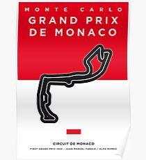 My F1 MONACO Race Track Minimal Poster Poster