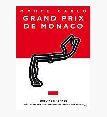 My F1 MONACO Race Track Minimal Poster Photographic Print