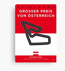 My F1 Osterreichring Race Track Minimal Poster.jpg Canvas Print