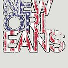 US Flag City - New Orleans by HandDrawnTees