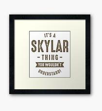 Skyler Thing Framed Print