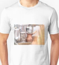 Coffee preparation Vintage concept. T-Shirt