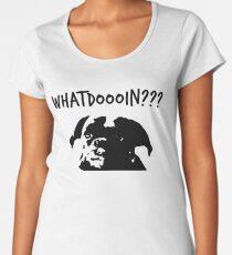 Elch - was tust du? Hund Premium Rundhals-Shirt