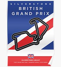 My F1 SILVERSTONE Race Track Minimal Poster Poster