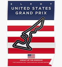My F1 AMERICAS Race Track Minimal Poster Poster