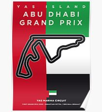 My F1 YAS MARINA Race Track Minimal Poster Poster