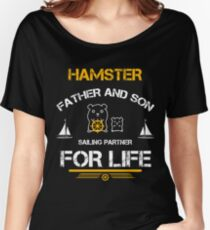 Hamster farther and son sailor partner for life Women's Relaxed Fit T-Shirt