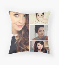 Zoella collage Throw Pillow