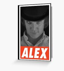 -MOVIES- Alex Delarge Greeting Card
