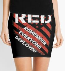 RED REMEMBER EVERYONE DEPLOYED Mini Skirt