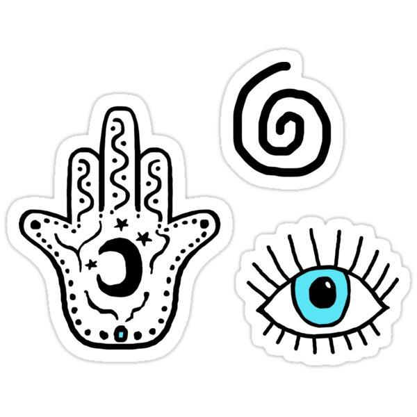 Evil Eye Hamsa Pattern Sticker