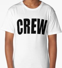 CREW, marina, yacht, sail, rigger, tall ships, sailor, Black type Long T-Shirt