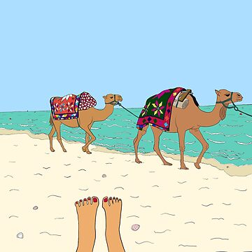 Camels on the Beach by m-lapino