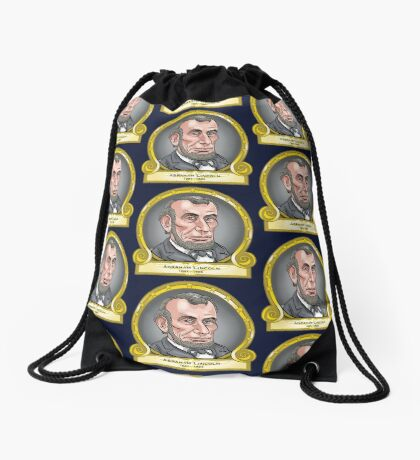 President Abraham Lincoln Drawstring Bag