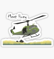 Huey helicopter in Vietnam Sticker