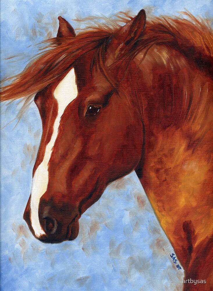 Chestnut Mustang Stallion by artbysas