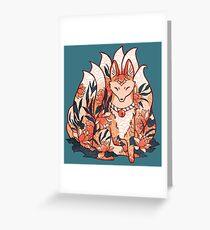 Kistune Ninetails Spirit  Greeting Card