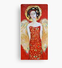 Guardian Angel Red White Christmas Angel Wings Decor for Wall Gift Canvas Print