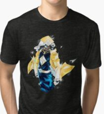 Raikage Static Shock (yellow jacket) Tri-blend T-Shirt